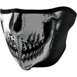 Tvárová maska ZAN HEADGEAR half glow-in-the-dark skull čierno-šedo-biela