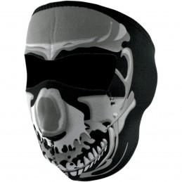 Tvárová maska ZAN HEADGEAR full chrome skull čierno-šedá