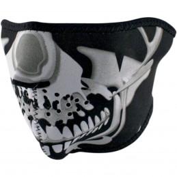 Tvárová maska ZAN HEADGEAR half chrome skull čierno-šedá