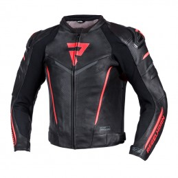 Bunda na motorku REBELHORN Fighter black/flo red