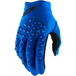 Pánske rukavice 100% AIRMATIC SHORT BLUE/BLACK