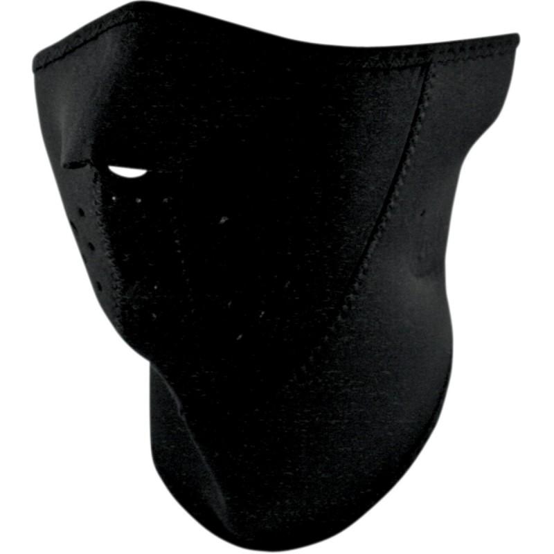 Tvárová maska ZAN HEADGEAR half 3-panel with neck shield čierna