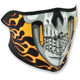 Tvárová maska ZAN HEADGEAR half burning skull čierno-žlto-šedá