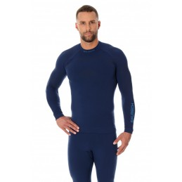 Termo tričko BRUBECK LS13040 dark blue