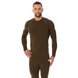 Termo tričko BRUBECK LS13040 khaki