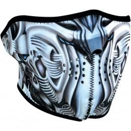 Tvárová maska ZAN HEADGEAR half biomechanical čierno-šedo-biela