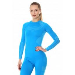 Dámske termo tričko BRUBECK Dry LS13070 light blue