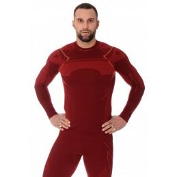 Termo tričko BRUBECK LS13040A dark red