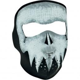 Tvárová maska ZAN HEADGEAR full gray skull čierno-biela