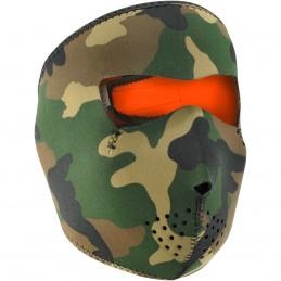 Tvárová maska ZAN HEADGEAR woodland camo maskáčová