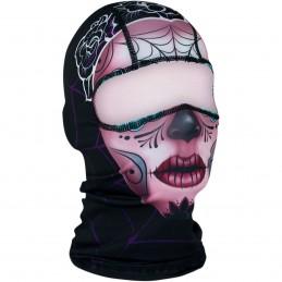 Kukla ZAN HEADGEAR sugar skull čierno-fialová