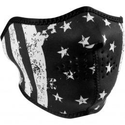 Tvárová maska ZAN HEADGEAR half flag čierno-biela