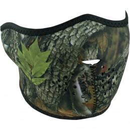 Tvárová maska ZAN HEADGEAR half forest camo čierno-hnedo-zelená