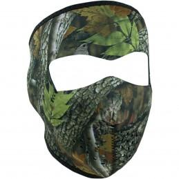 Tvárová maska ZAN HEADGEAR full forest camo čierno-hnedo-zelená