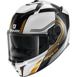 Prilba na motorku SHARK Spartan GT Tracker black white gold