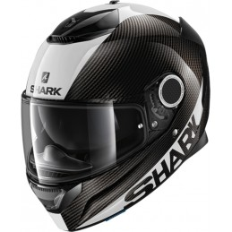 Prilba na motorku SHARK Spartan Carbon Skin white silver