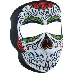 Tvárová maska ZAN HEADGEAR full muerte skull čierno-zeleno-biela