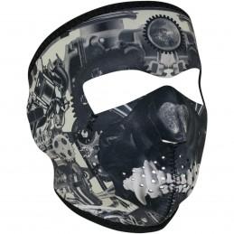 Tvárová maska ZAN HEADGEAR full sprocket skull čierno-šedá