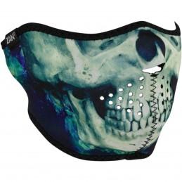 Tvárová maska ZAN HEADGEAR half paint skull biela
