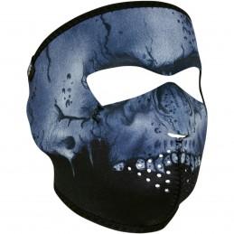 Tvárová maska ZAN HEADGEAR full midnight skull čierno-modrá