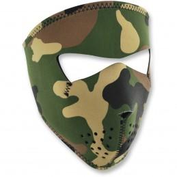 Tvárová maska ZAN HEADGEAR full woodland camo čierno-hnedo-zelená