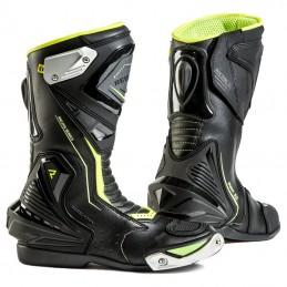 Topánky na motocykel REBELHORN Piston II CE black flo yellow