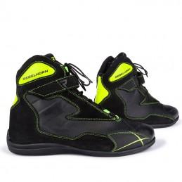 Topánky na motocykel REBELHORN Spark black flo yellow