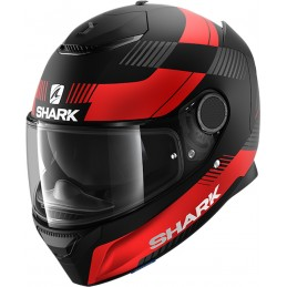 Prilba na motorku SHARK Spartan Strad black red anthracite