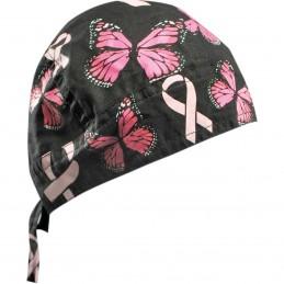 Šatka ZAN HEADGEAR ribbon butterflies čierno-ružovo-biela