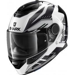 Prilba na motorku SHARK Spartan Antheon white silver black
