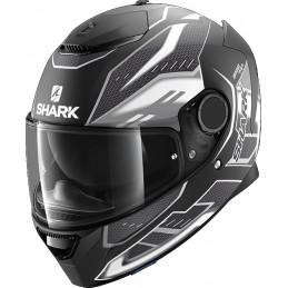 Prilba na motorku SHARK Spartan Antheon black white black