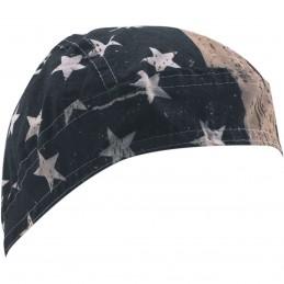 Šatka ZAN HEADGEAR vintage american flag čierno-modro-biela