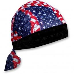 Šatka ZAN HEADGEAR wavy american flagvented sport  čierno-modro-červeno-biela