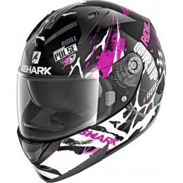 Prilba na motorku SHARK Ridill Drift-R black violet white