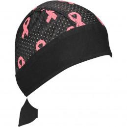 Šatka ZAN HEADGEAR vented sport pink ribbon čierno-ružová