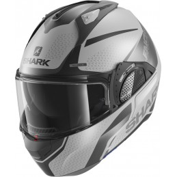 Prilba na motorku SHARK Evo GT Encke silver anthracite black