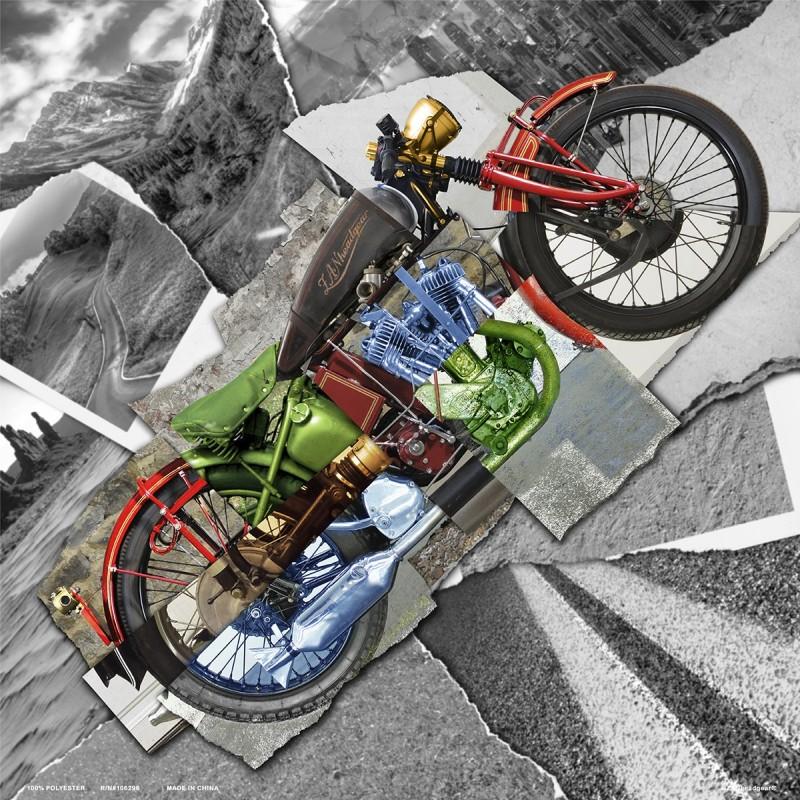 Šatka ZAN HEADGEAR motorcycle montage deluxe čierno-šedá