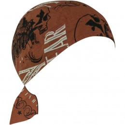 Šatka ZAN HEADGEAR vintage flier čierno-hnedá