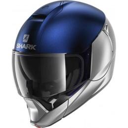 Prilba na motorku SHARK Evojet Dual Blank mat blue silver