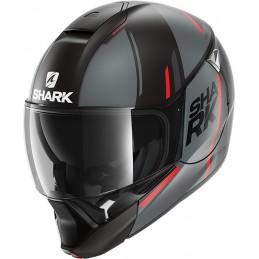 Prilba na motorku SHARK Evojet Vyda grey black red