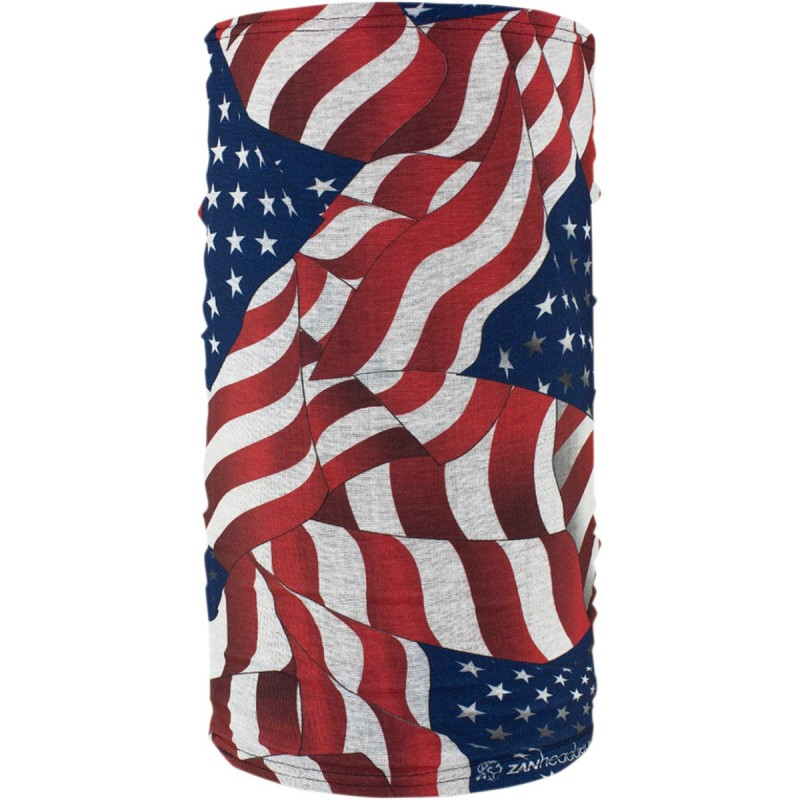Šatka ZAN HEADGEAR motley tube american flag modro-červeno-biela