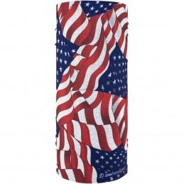 Šatka ZAN HEADGEAR motley tube wavy american flag modro-červeno-biela