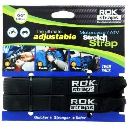 Nastaviteľné popruhy OXFORD Rok Straps HD 25mm Adj Black