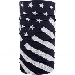 Šatka ZAN HEADGEAR motley tube flag čierno-biela