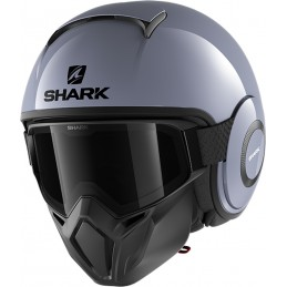 Prilba na motorku SHARK Street-Drak Blank graphite gray
