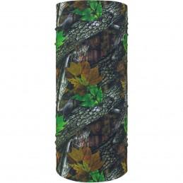 Šatka ZAN HEADGEAR motley tube forest camo čierno-zeleno-hnedo-šedá