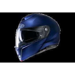 Prilba na motorku HJC i90 semi flat metallic blue