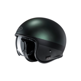 Prilba na motorku HJC V30 Perot green black