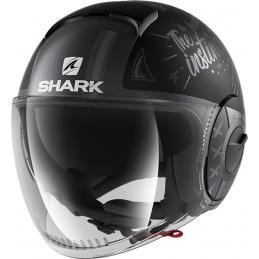 Prilba na motorku SHARK Nano Tribute RM mat black anthracite silver