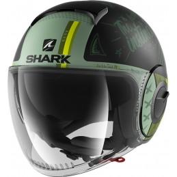 Prilba na motorku SHARK Nano Tribute RM mat black green green